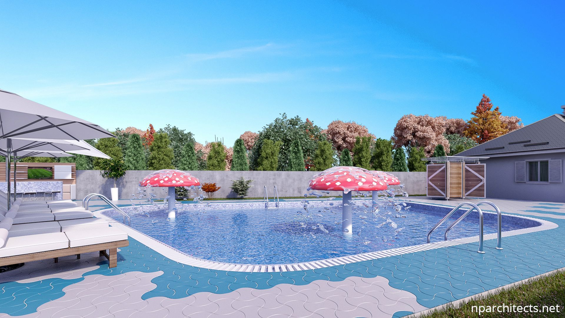 Commercial Pool Two Big Swimming Pools Project in Serbia