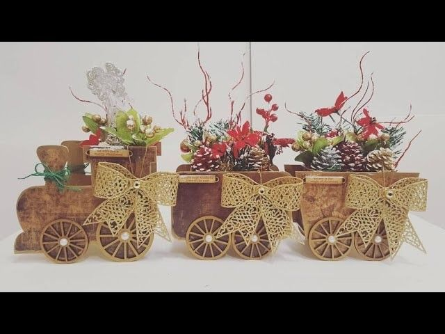 Altered 3D train set for Christmas