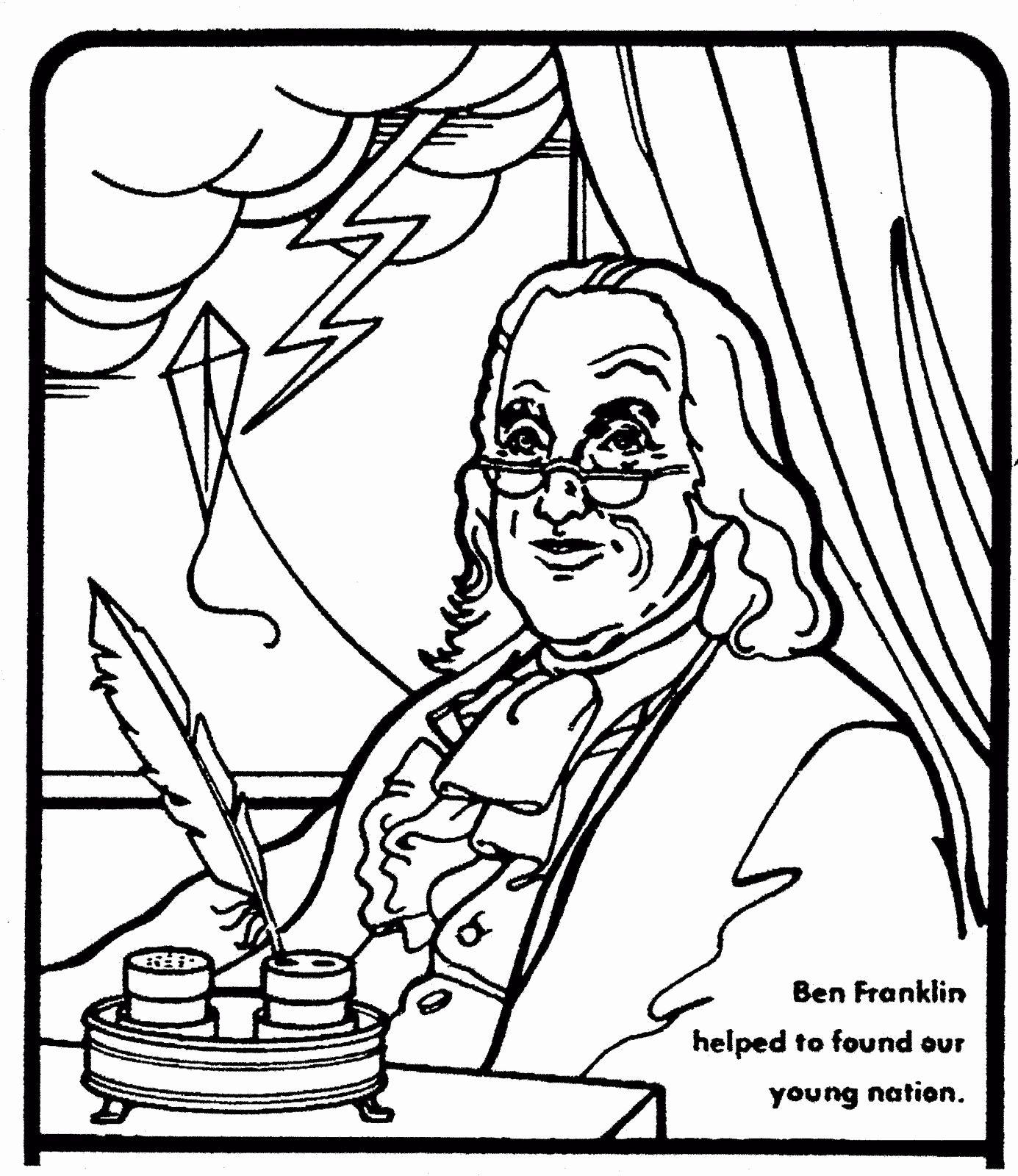 Benjamin Franklin Coloring Page Elegant Ben Franklin
