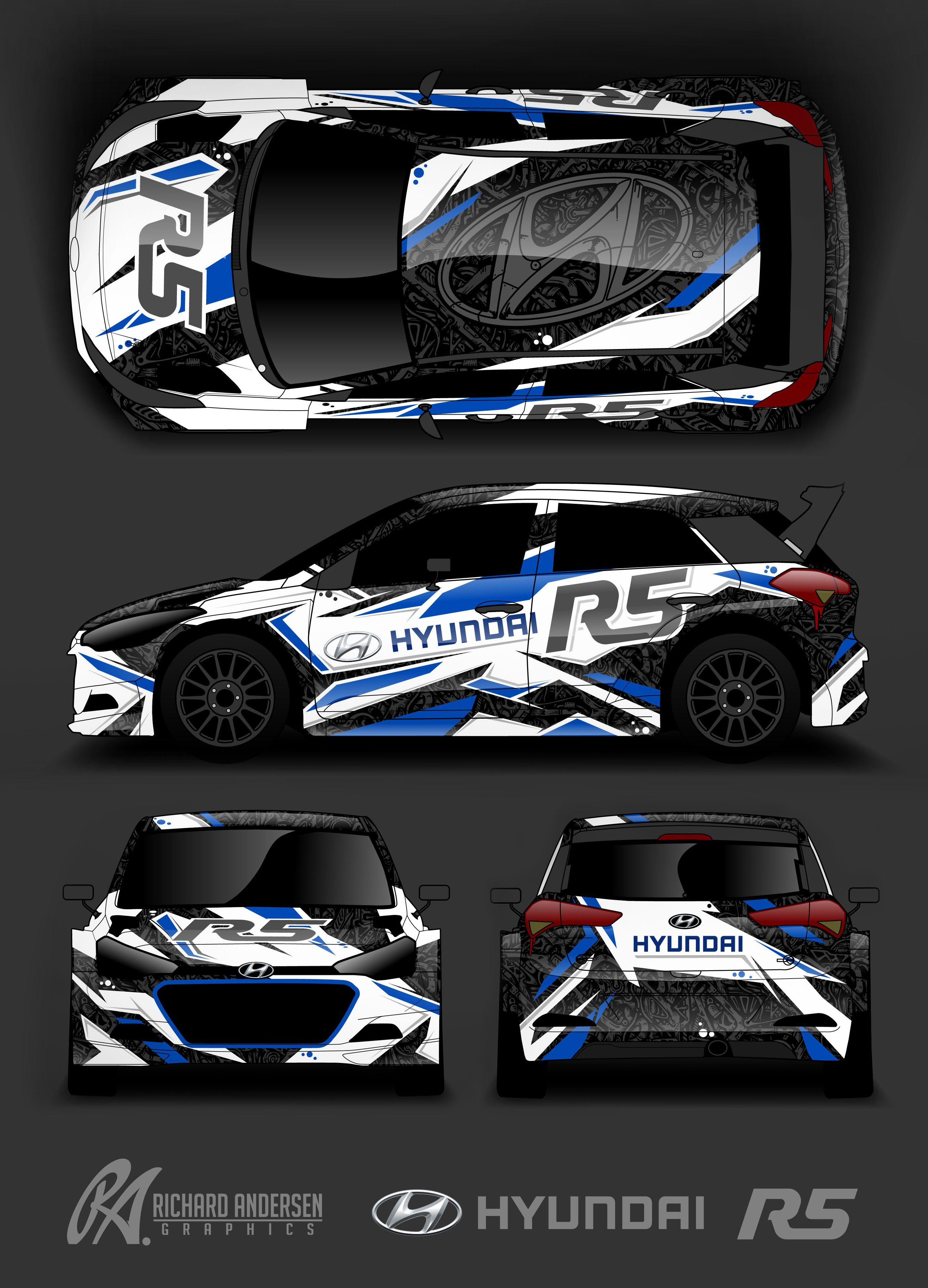 Richard Andersen Hyundai R5 Wrap Design Car Competitions Car Wrap Design Car Graphics