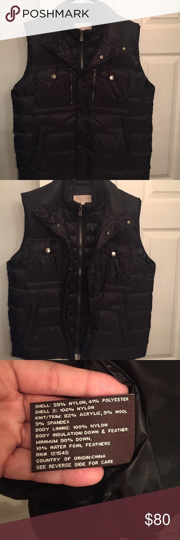 Michael Kors down vest Great condition Michael Kors down vest!! It has a zipper and snap closure and an inside pocket. Sorry no trades! Michael Kors Jackets & Coats Vests