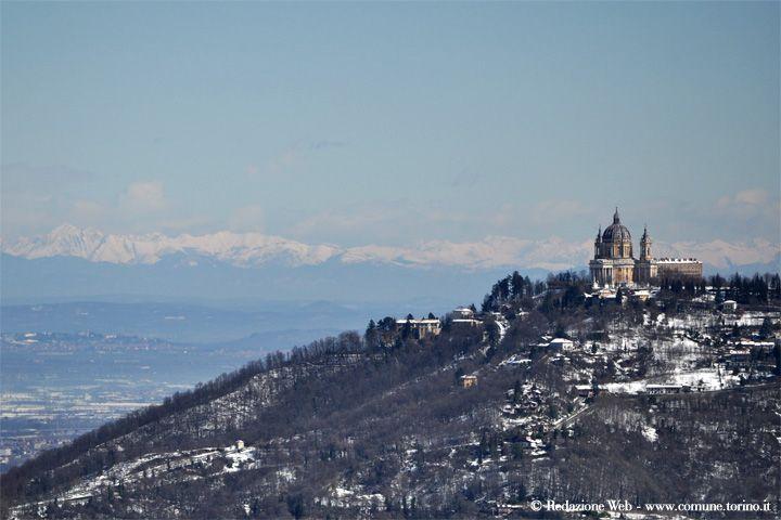 Basilica di Superga, #Torino. 19 marzo 2013. Foto della Redazione Web della Città di Torino. #panorami