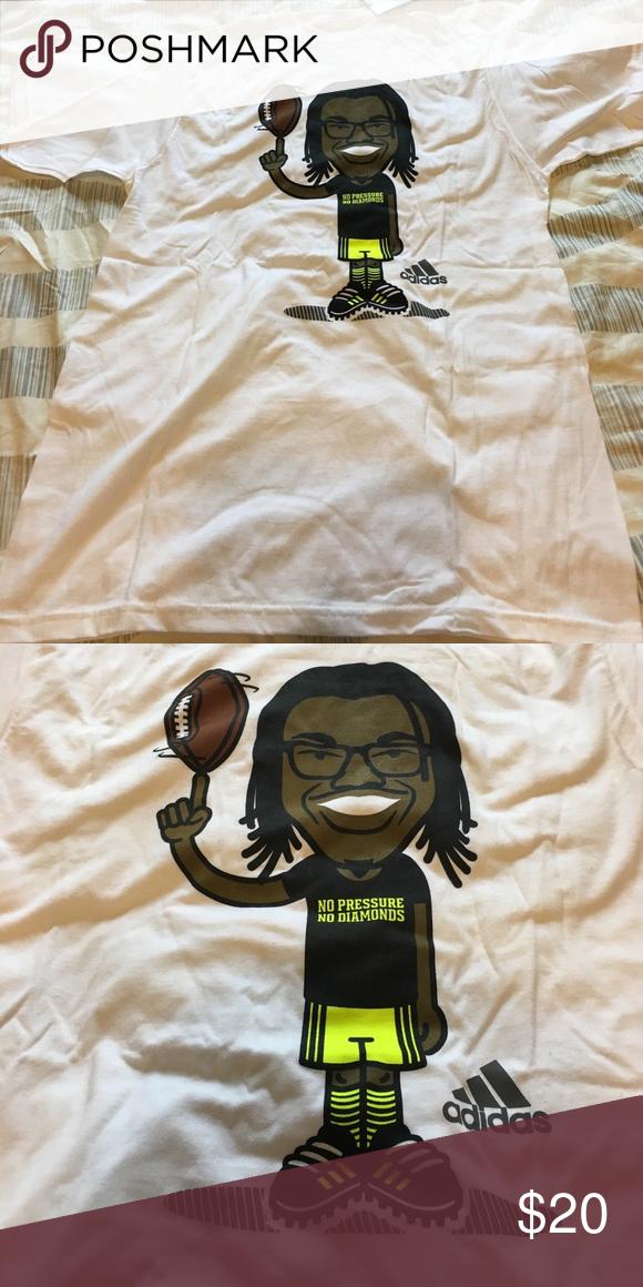 Adidas RG3 T-shirt No Pressure No Diamonds t-shirt 100% cotton Adidas Shirts Tees - Short Sleeve