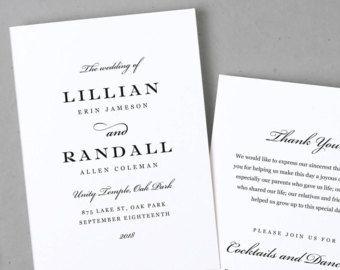 Wedding Program Template Printable Wedding Program Folded Order - Wedding invitation templates: wedding order of service template