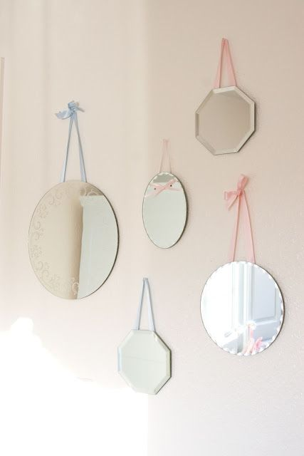 Simply Ciani: Madisyn's Shabby Chic Nursery omg I have so many mirrors left over from our wedding now I can do something with them great idea lol