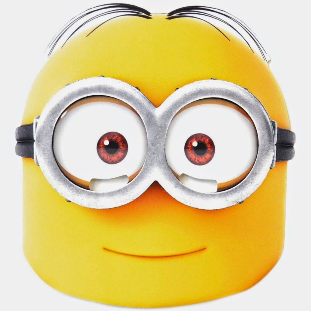 graphic about Printable Minion Face named Free of charge Printable Individuality Experience Masks Minion celebration inside of 2019