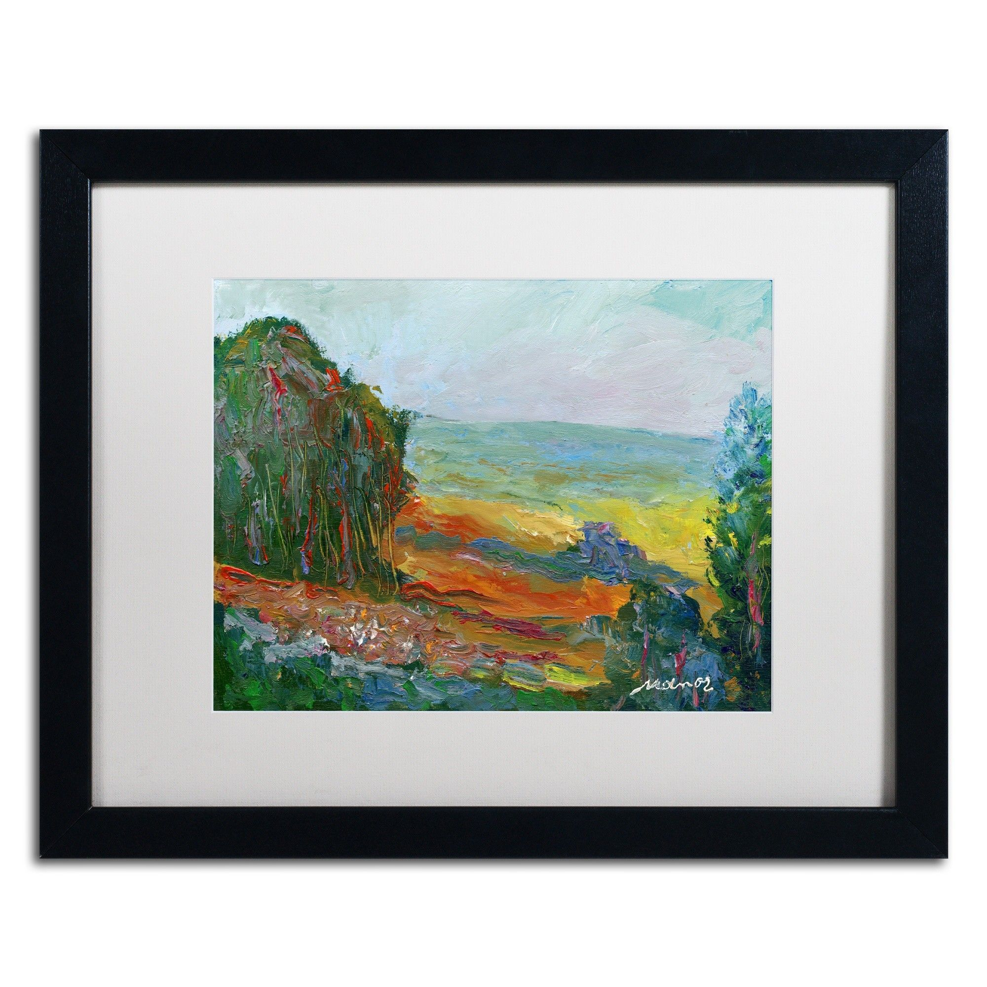 'Fall Fields' by Manor Shadian Framed Painting Print