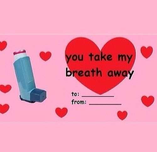 You Take Me Breath Away Haha Meme Valentines Cards Valentines Memes Funny Valentines Cards