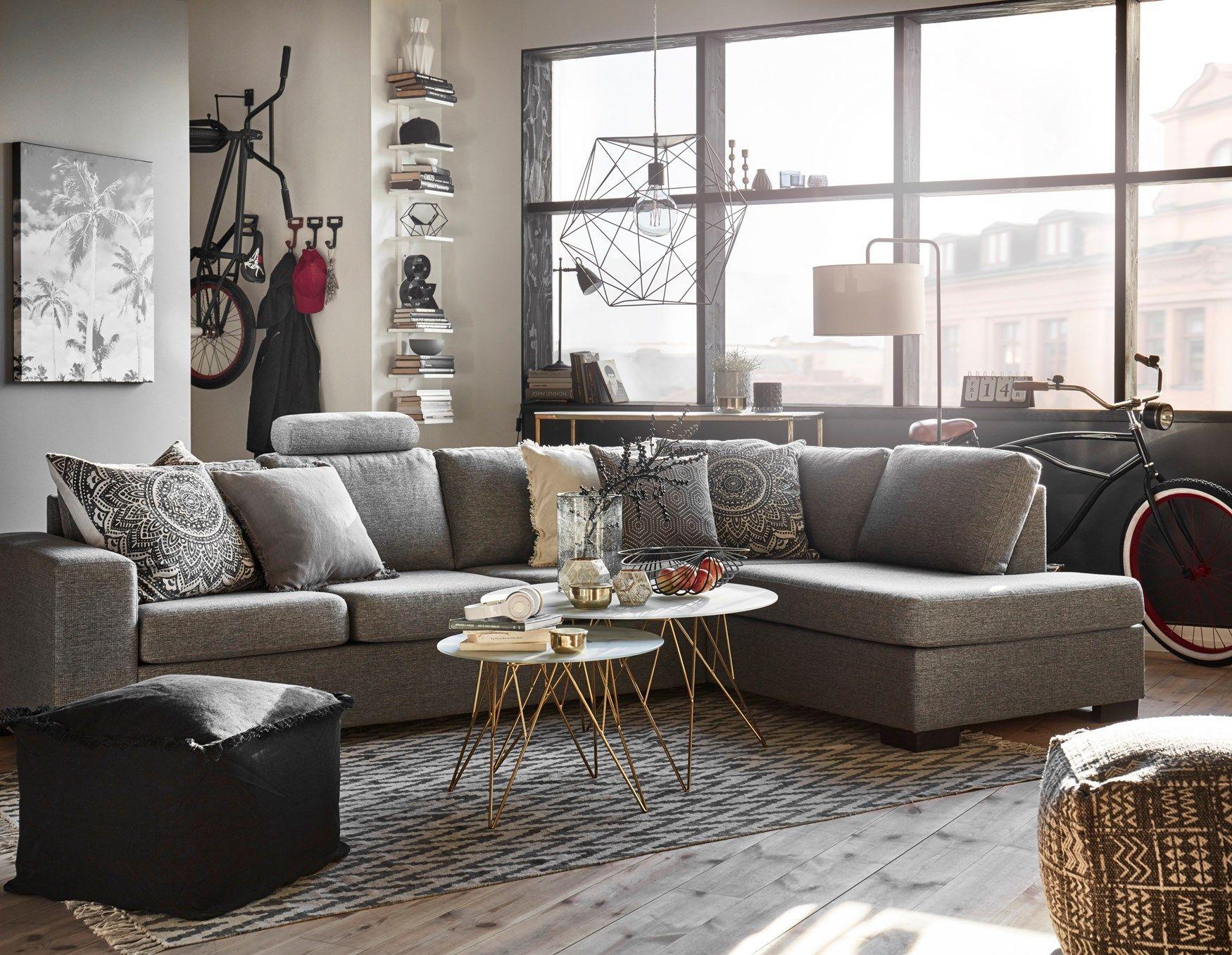 Nevada 3 sits soffa med divan från Mio Vardagsrum Pinterest Nevada, Living rooms and