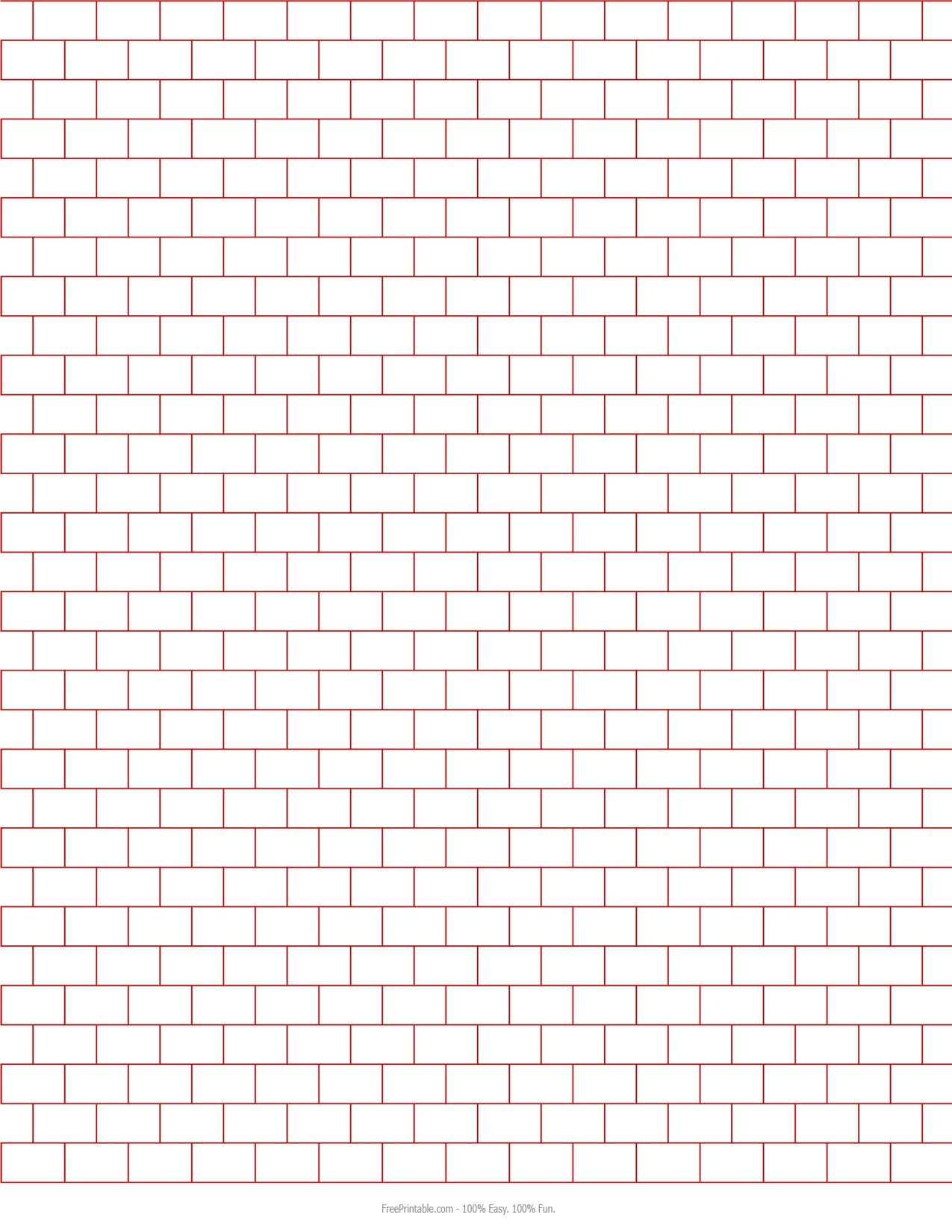 Customize Your Free Printable X Brick Graph Paper