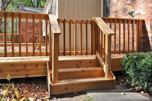 Best Cedar Deck Railing Gate In Marengo Built By Rock Solid Builders Inc Wood Decks Pinterest 400 x 300