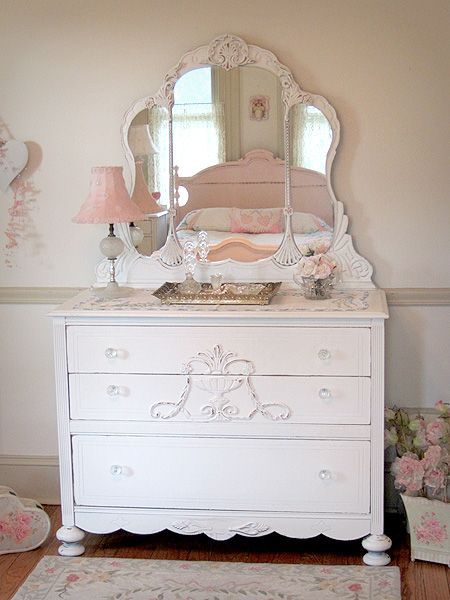 Thinking of refinishing an old dresser like this Shabby chic