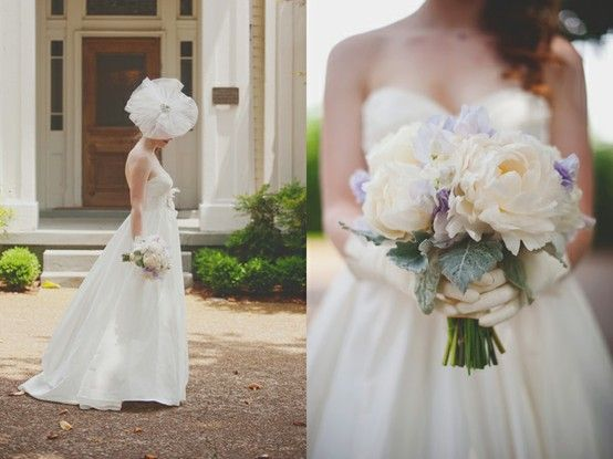 hate the head wear, loveee the bouquet!