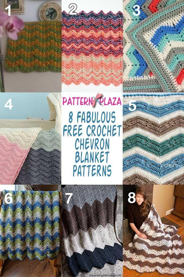8 FABULOUS CHEVRON BLANKETS | PATTERN PLAZA | FREE CROCHET PATTERN ...