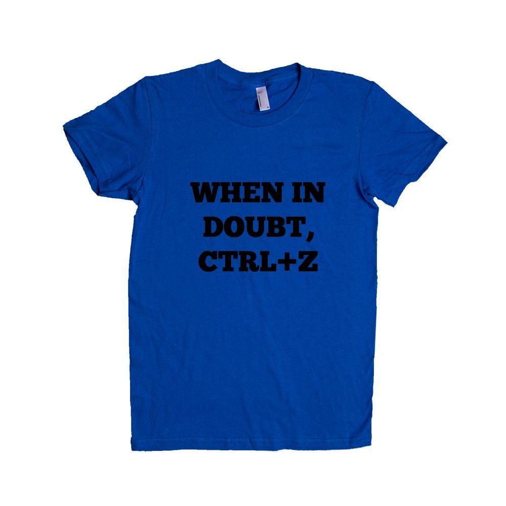 When In Doubt CTRL Z Wifi Internet Nerd Computers Nerds Online Connection Programmer Programming SGAL5 Women's Shirt