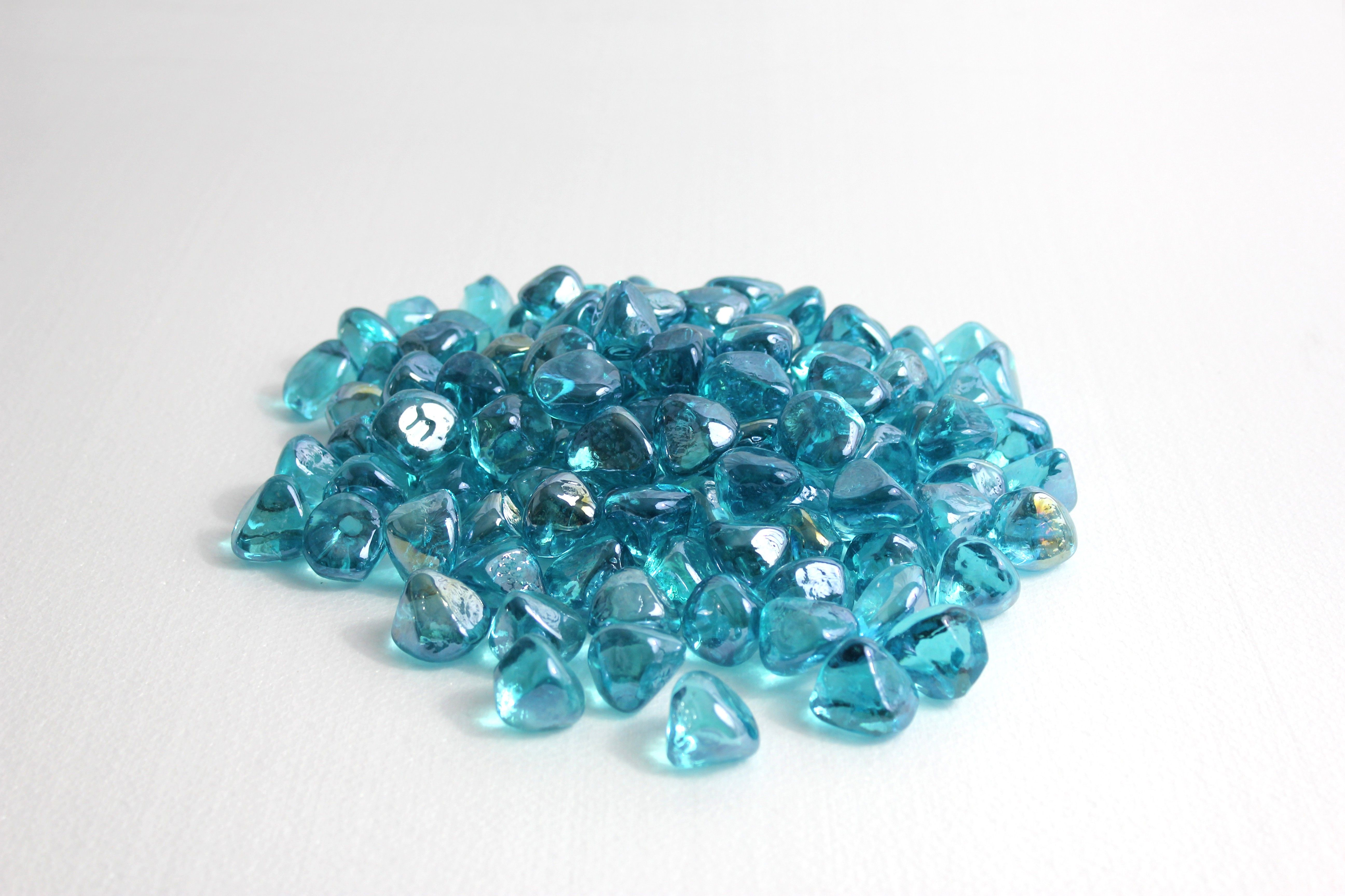 Powder Blue Luster Zircon Fireglass
