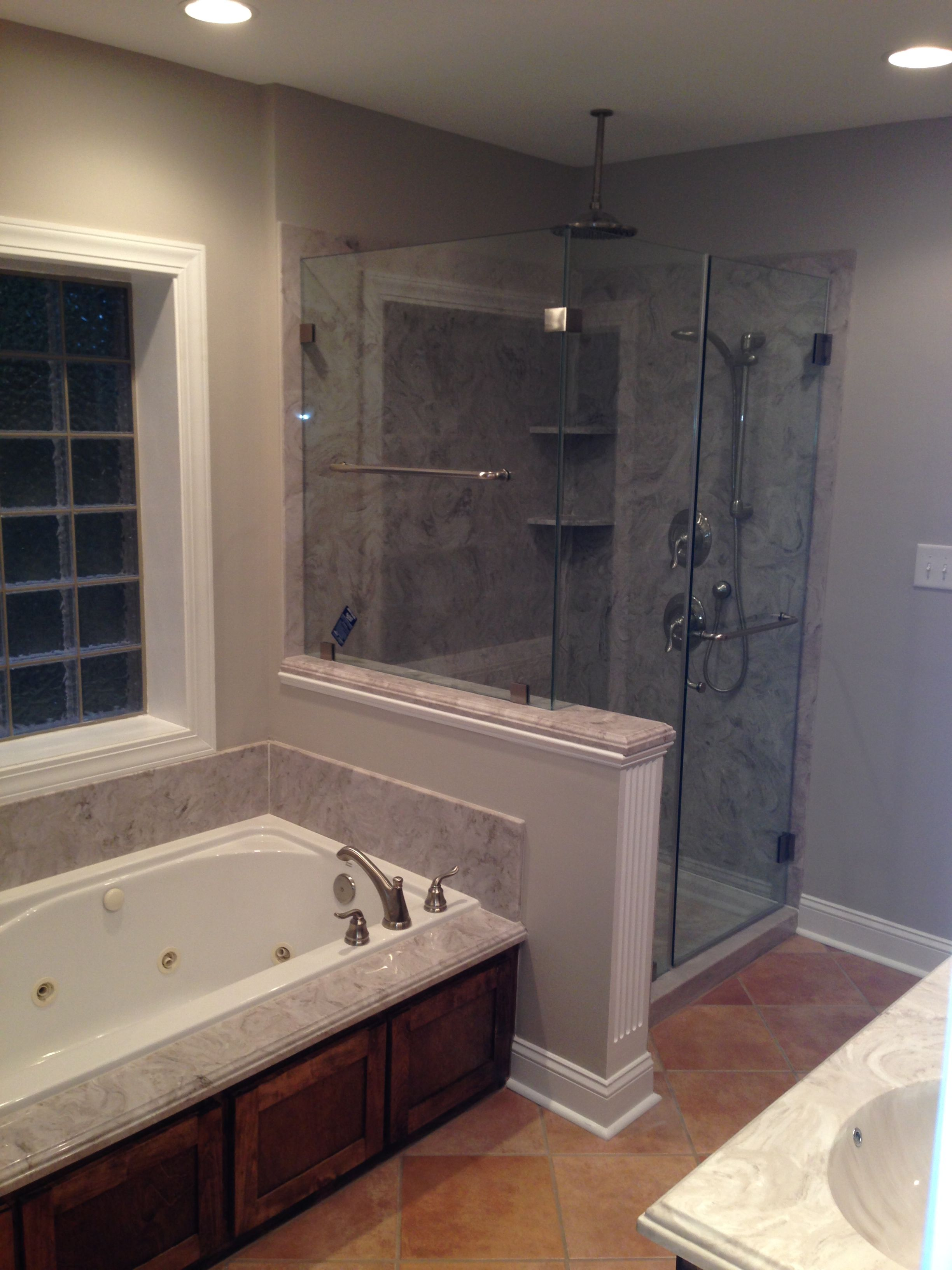Add open concept idea for a bathroom remodel or new construction ...