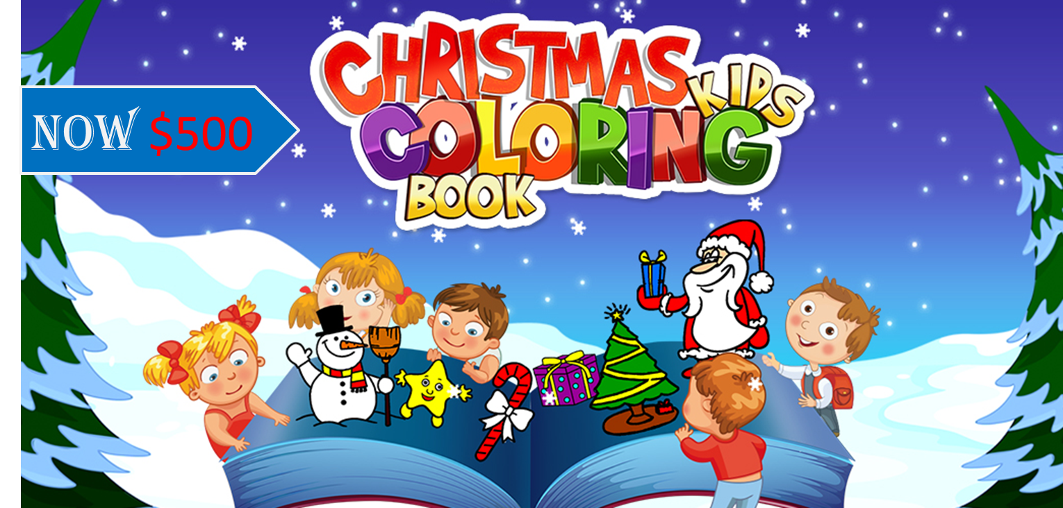 Enjoy This Christmas With Your Own Kids Coloring Game By Easily Customizing The Ios Sourcecode Coloring For Kids Coloring Books Educational Apps
