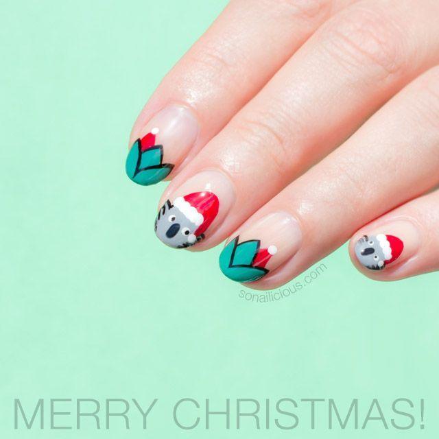Merry Christmas! Plus, Santa Koala Christmas Nails