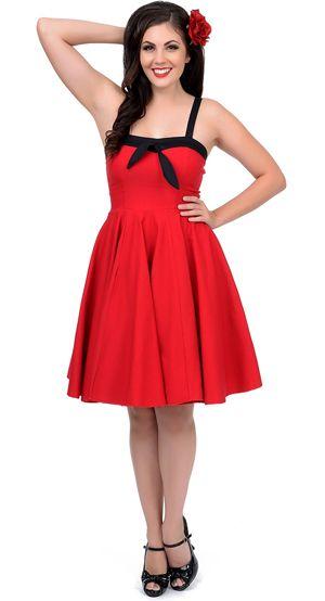 83c30772b5 red swing dress