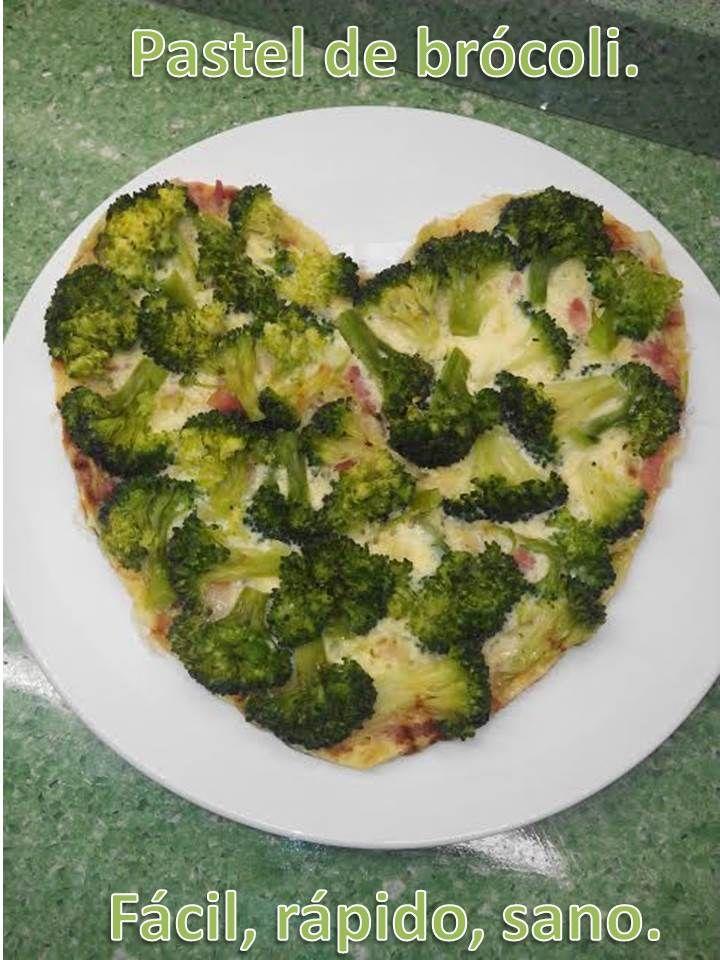 Pastel De Brócoli Fácil Rápido Sano