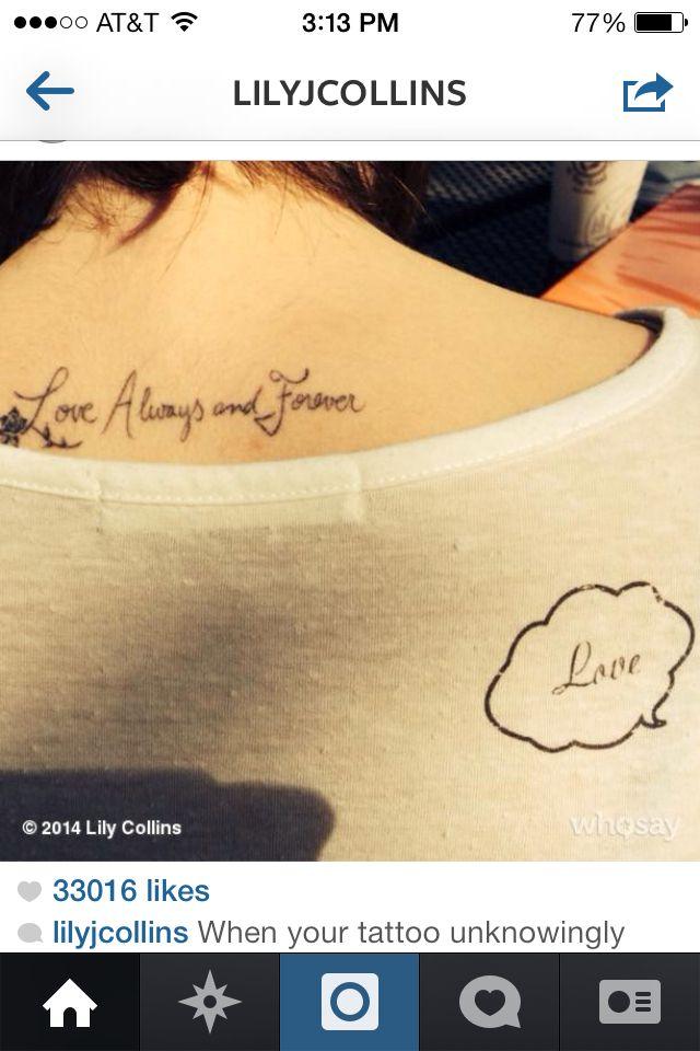 Lily Collins And Jamie Campbell Bower Matching Tattoos