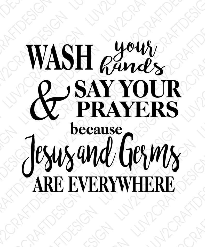 SVG/PNG/JPG - Funny Bathroom Saying - Download - Wash your