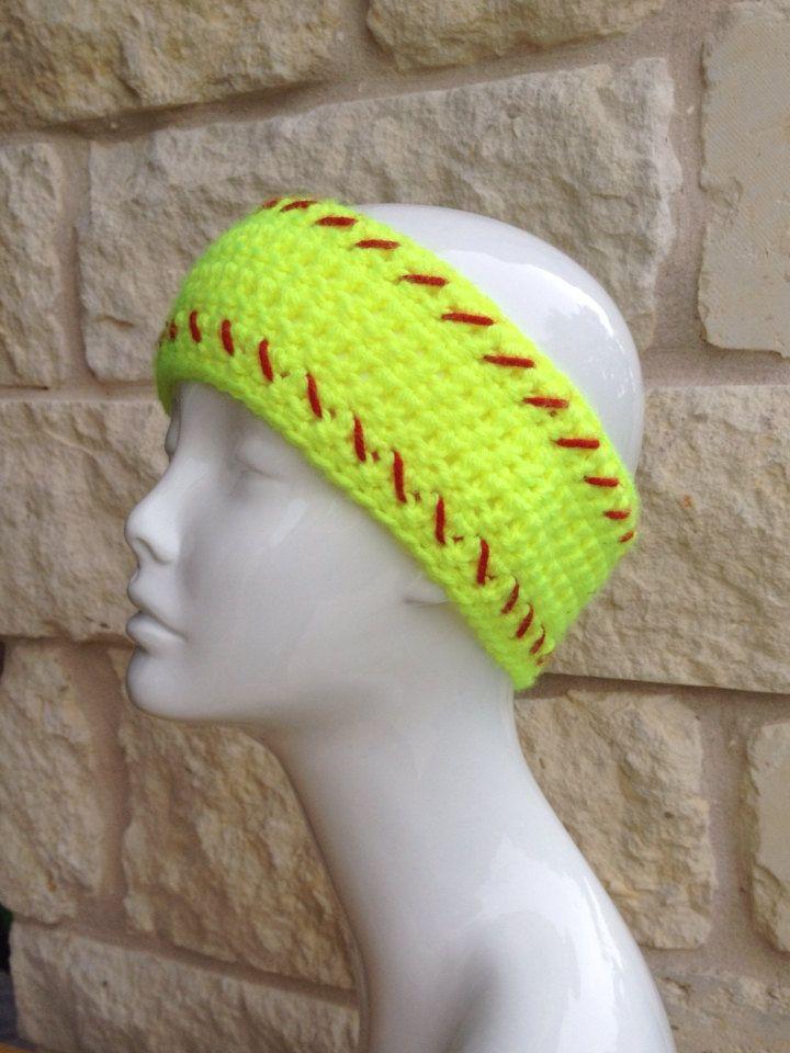 Único Softball Diadema Con Patrón Crochet Embellecimiento - Manta de ...