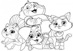 Desenhos Da Lulu 44 Gatos Para Colorir Desenhos Pintar E