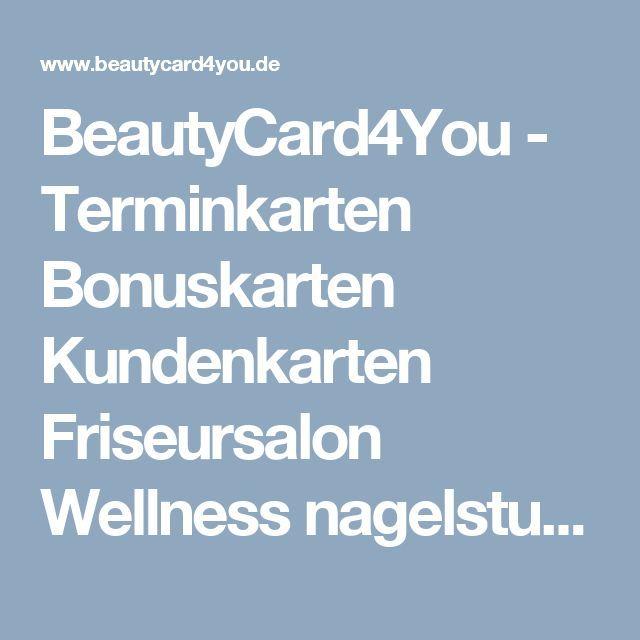 beautycard4you terminkarten bonuskarten kundenkarten