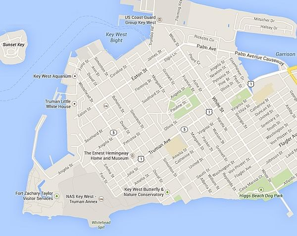 Map Of Key West Florida Streets.Map Of Old Town Key West Florida Places I Want To Go