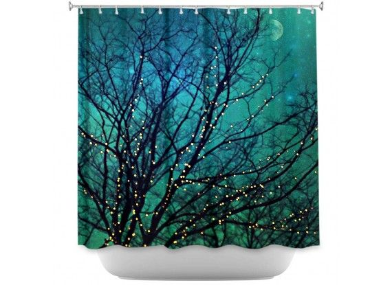 Shower Curtains By Sylvia Cook Magical Night Fabric Shower