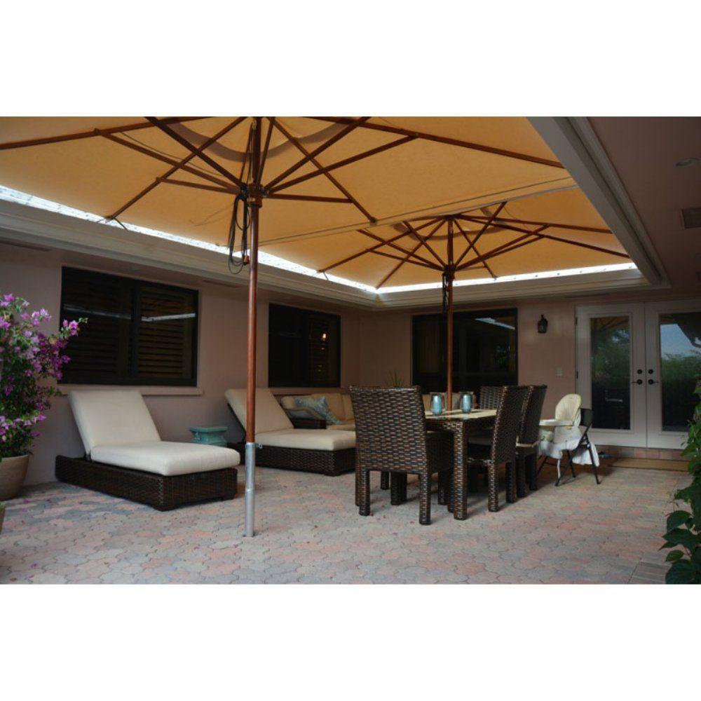 Greencorner Aluminum In Ground Base Umbrella Stand Www Hayneedle Com Backyard Patio Furniture Patio Umbrella Concrete Patio Makeover