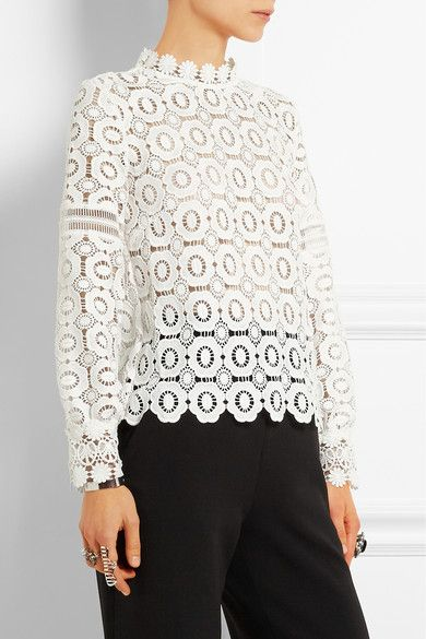 10a66b93bb White guipure lace Concealed hook and zip fastening at back 95% polyester,  5% cotton Hand wash