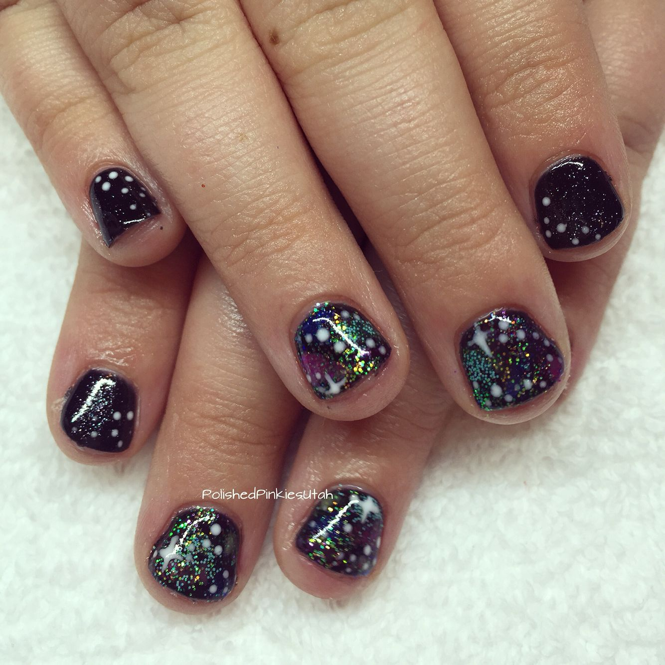 Polished Pinkies Utah: Galaxy nails for this little \'what\'s in the ...