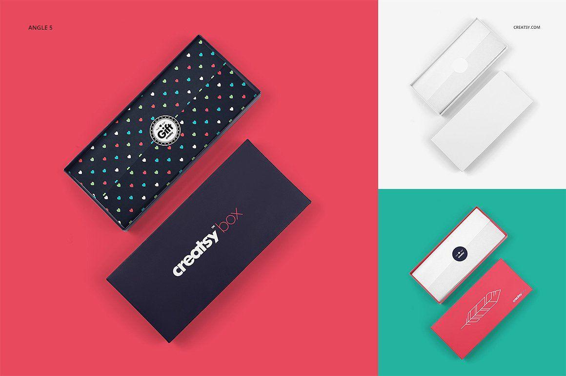 Download Gift Box Mockup Set | Box mockup, Creative market, Gift box