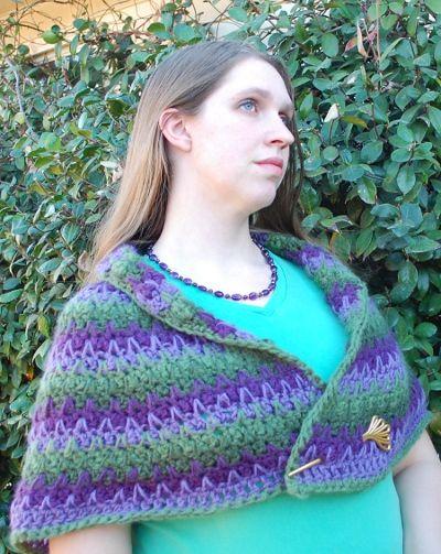 waterlily wrap free crochet shawl pattern