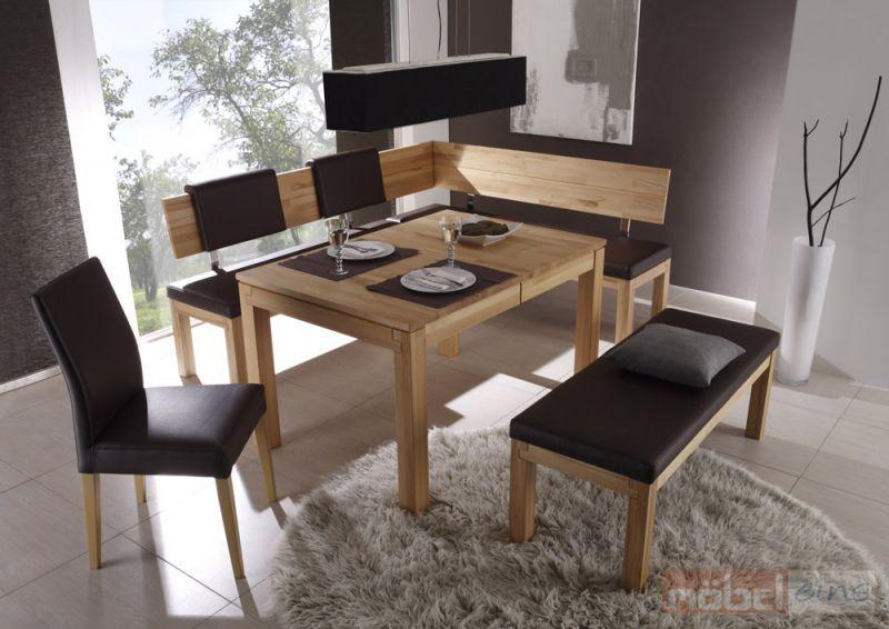 Eckbank Salima mit Sitzbank Salima und Tisch Gabriel Esszimmer - esszimmer neu gestalten
