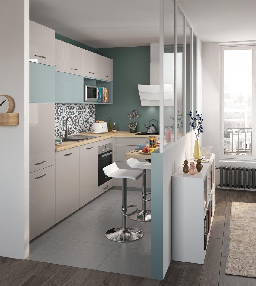Cuisine Équipée Dans Petit Espace optimum basilic | petite cuisine équipée, salons de cuisine