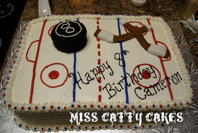 Hockey Rink Cake Hockey Birthday Cake Boy Birthday Cake Hockey Cakes