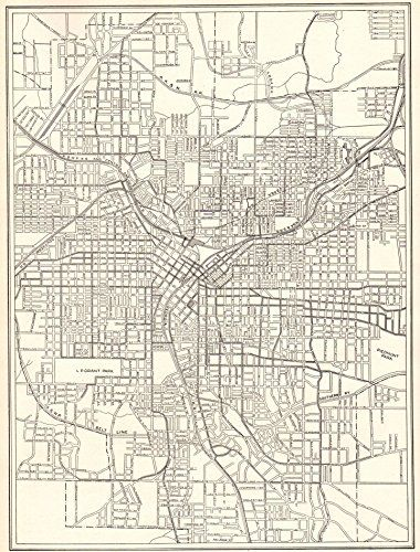 Antique Atlanta Georgia Map Original Vintage Map Of Https - Georgia map 1918
