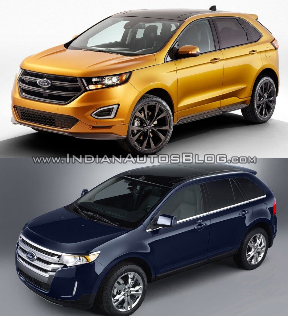 2015 Ford Edge vs older model picture comparison Ford