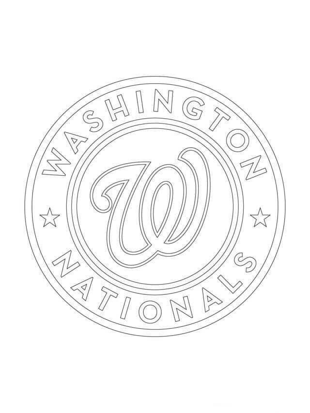 Baseball Teams Coloring Pages Free Printable Major League Baseball Mlb Coloring Pages In 2020 Baseball Coloring Pages Baseball Drawings Washington Nationals Logo