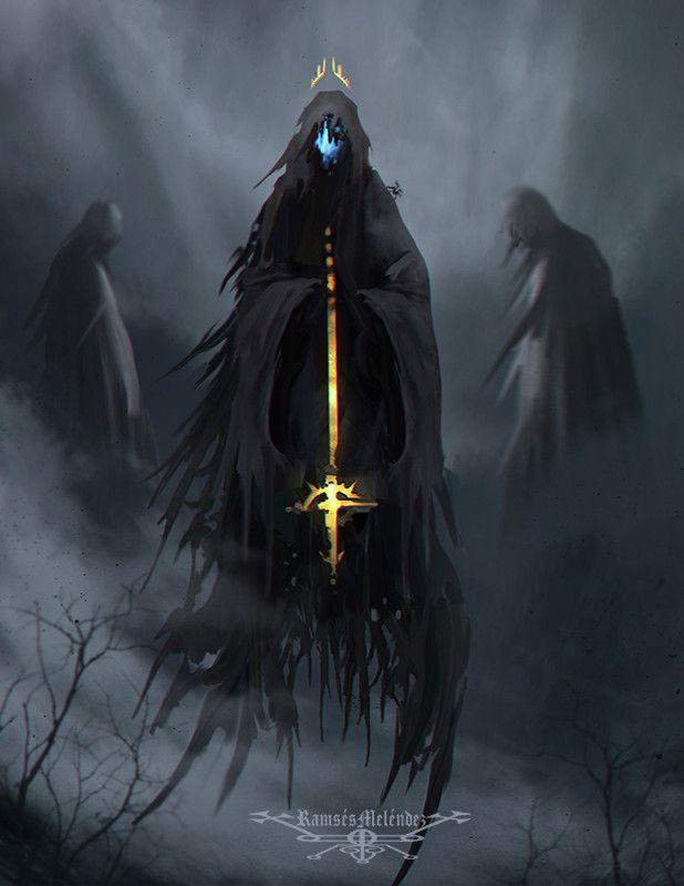 dioses de la Oscuridad en La Espada Sagrada.