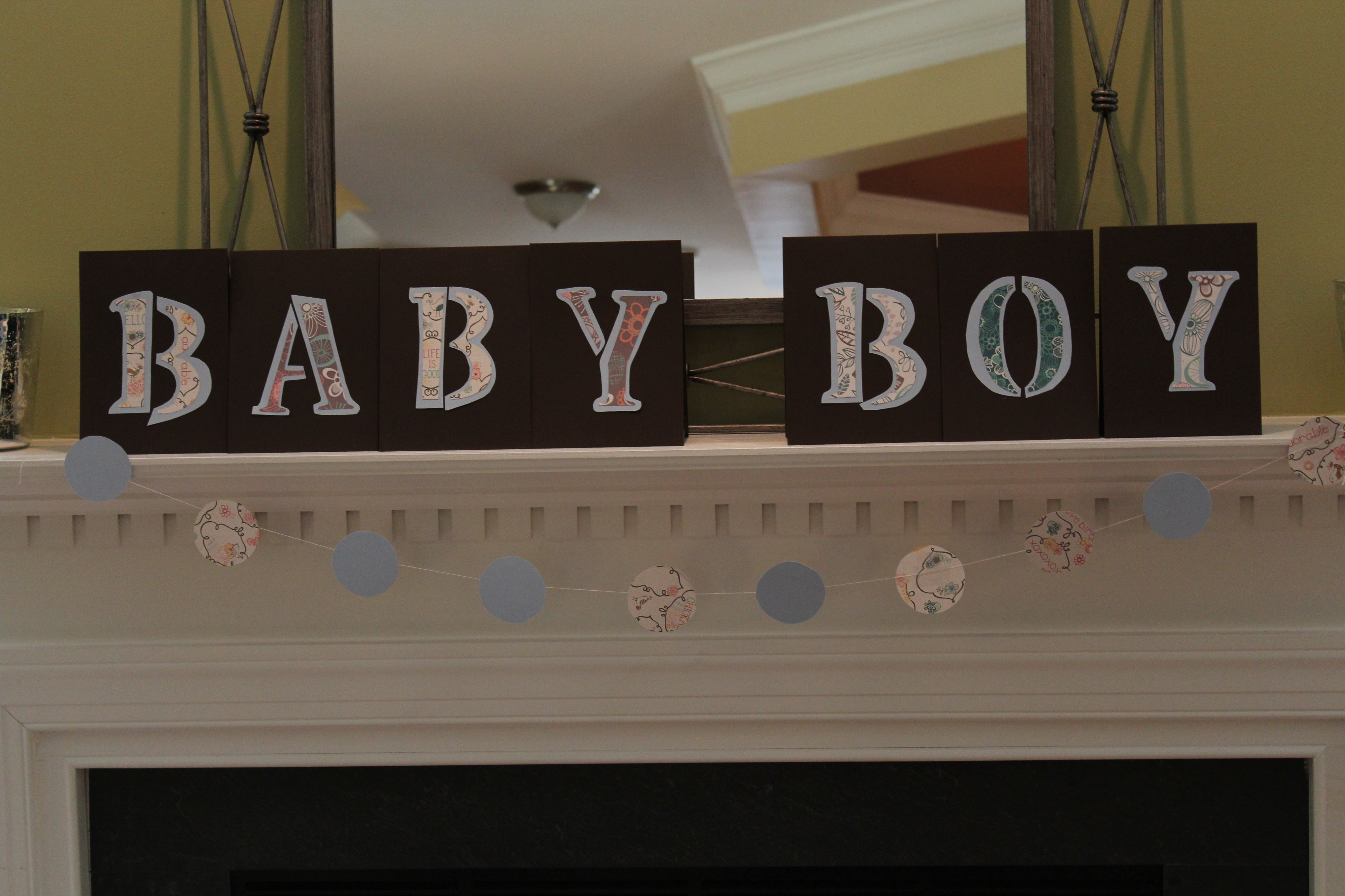 Made this banner from left over wedding paper!