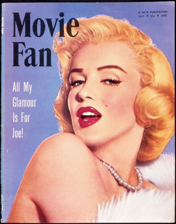 Movie Fan - July 1954, USA magazine. Front cover photo of Marilyn Monroe by Frank Powolny, 1953 <3