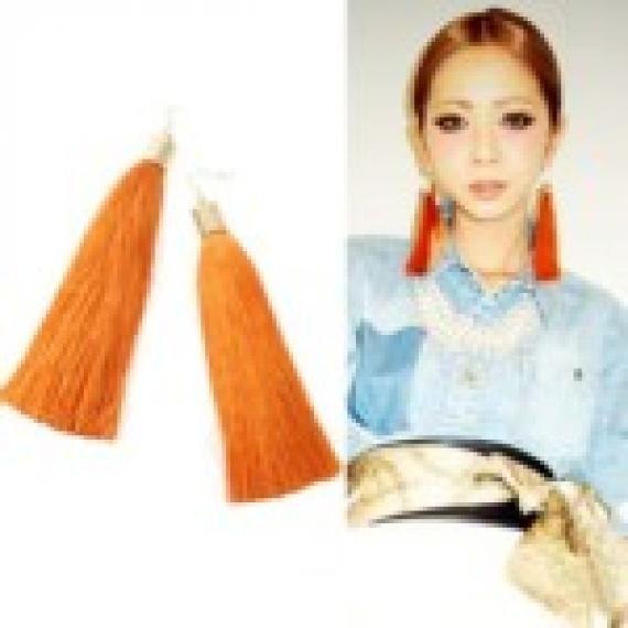 Tassels Design Earrings (Yellow)