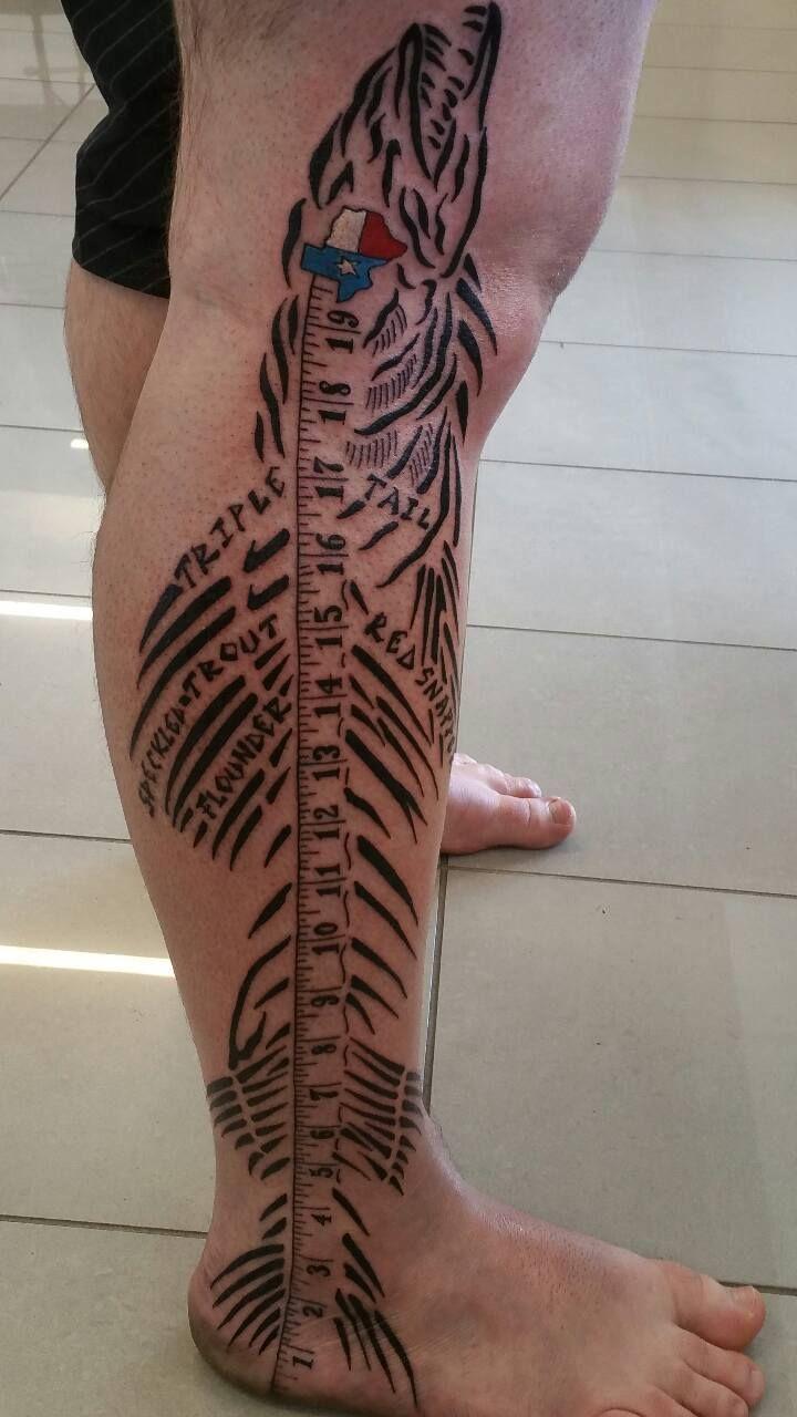 houston fisherman gets awesome leg tattoo tattoo fishing tattoos and tattos. Black Bedroom Furniture Sets. Home Design Ideas