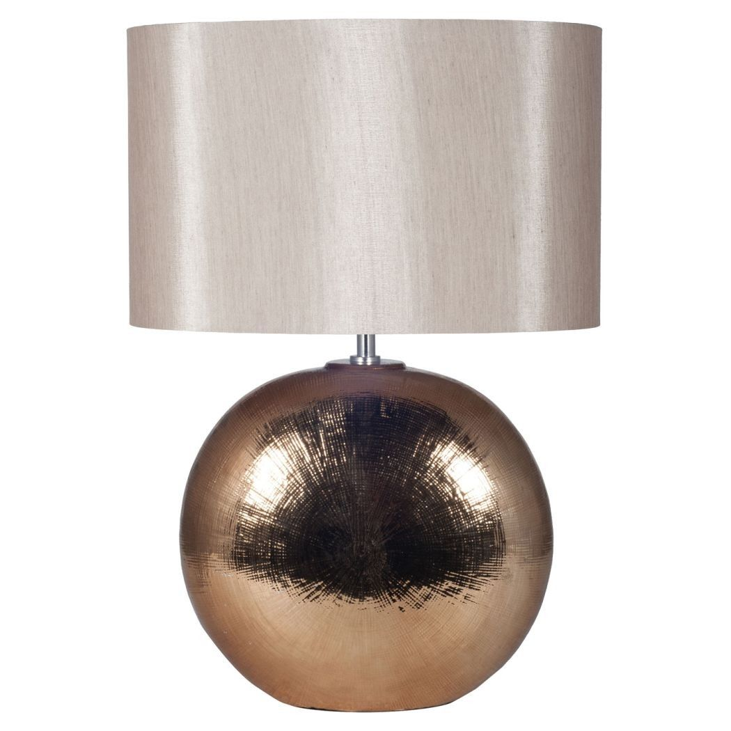Charming Alpha Oval Table Lamp Bronze