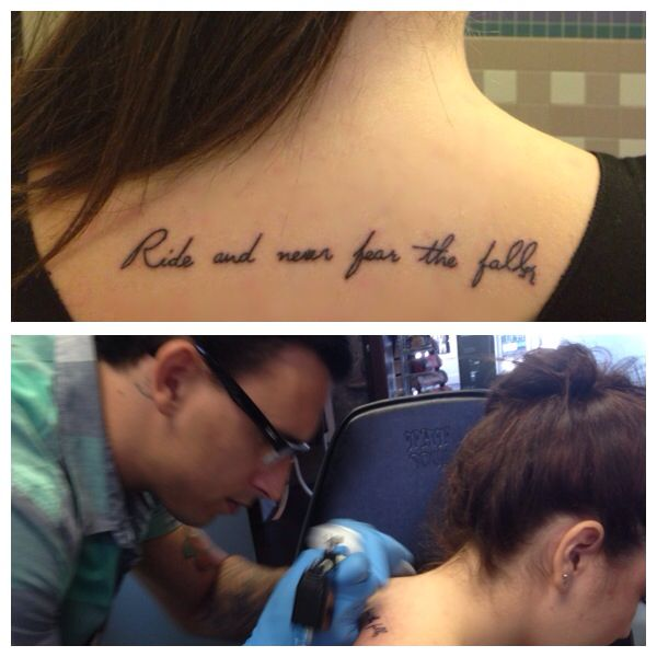 ride and never fear the fall tattoo